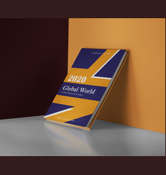 Simple book cover design template vector