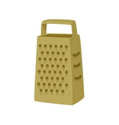 Simple grater isolated vector