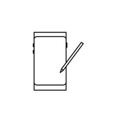 Smartphome stylus icon vector