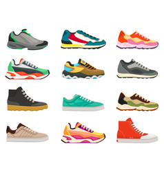 sneakers shoes fitness footwear for sport vector image