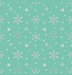 snowflakes seamless repeating pattern vector image