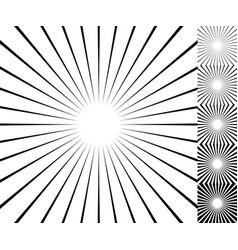 Starburst sunburst background element set 6 vector