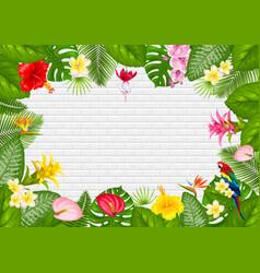 summer tropical frame design vector image