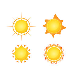 sun isolated summer icon design yellow sun vector image