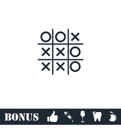 Tic tac toe game icon flat vector image