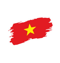 Vietnamese Flag Painted Vietnam Vector Images 93