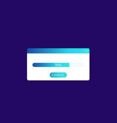 Window with progress bar ui design vector