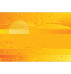 abstract sunset sea grunge background vector image vector image