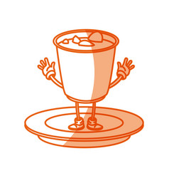 cartoon soup ramen japan food traditional image vector image