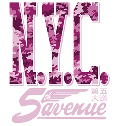 New York City fifth avenue vector image vector image