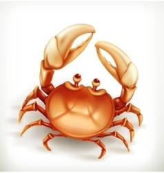 Funny crab icon vector image vector image