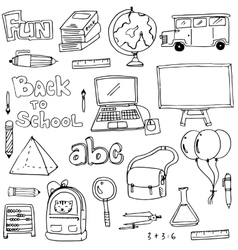 Hand draw education element doodles vector image