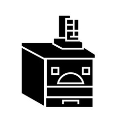 russian oven icon black sign vector image
