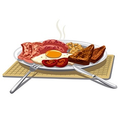 Traditional english breakfast vector