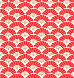 Japanese and Chinese Fans Seamless Pattern vector image vector image