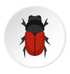 maybug icon circle vector image