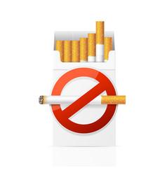 no smoking concept vector image vector image