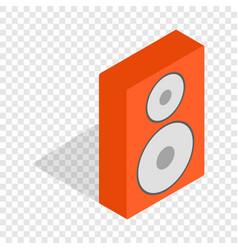 orange speaker isometric icon vector image
