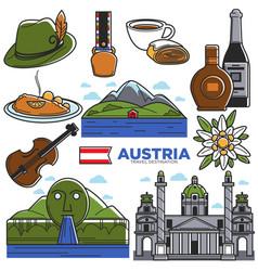 austria tourism travel landmarks and famous vector image
