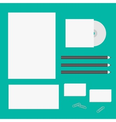 Blank letter pencil envelope cd business card vector image