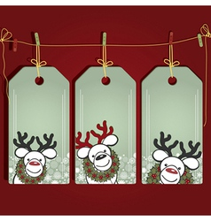Christmas gift labels with elements of the vector image vector image
