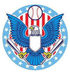 eagle mascot of baseball vector image