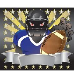 footballer player blue tshirt6 vector image