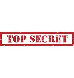 Stamp top secret vector image