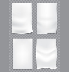 white paper action set vector image