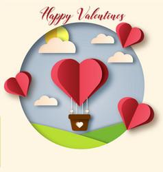 3d happy valentines day vector