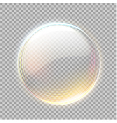 3d transparent sphere with golden blick vector image