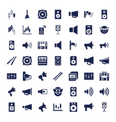 49 loud icons vector image