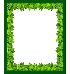 A border made of leaves vector