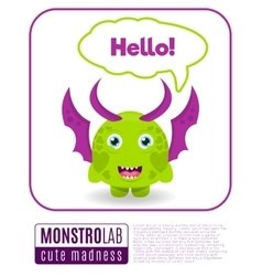 a monster saying hello vector image