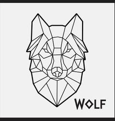 abstract polygonal geometric head a wofe vector image