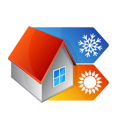Air conditioning and ventilation at home vector
