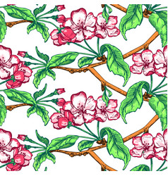 Appleflower sketch pattern1-10 vector