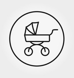 baby carriage universal icon editable vector image