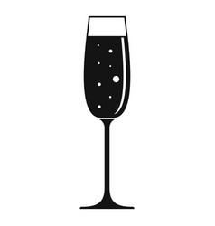Bar champagne glass icon simple style vector