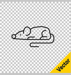 black line experimental mouse icon isolated on vector image