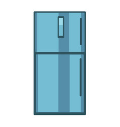 Blue colored fridge vector