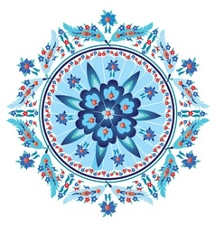 Blue decorative oriental pattern and ornaments vector