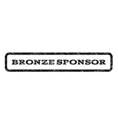 Bronze sponsor watermark stamp vector