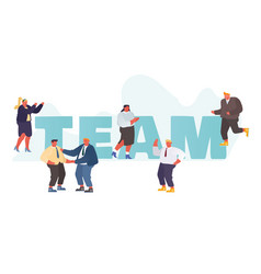 business team concept businesspeople working vector image