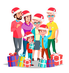 christmas family december eve cheerful vector image