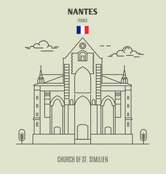 church of st similien in nantes vector image