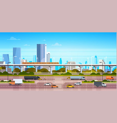Cityscape background modern city panorama vector