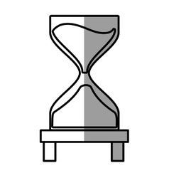 Clock glass sand business clock money shadow vector