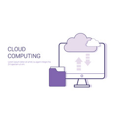 cloud computing service online database business vector image