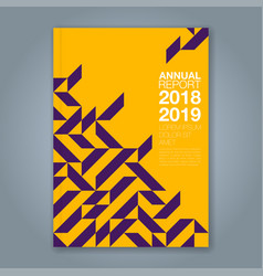 Cover annual report 855 vector